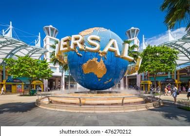 Universal Studio Singapore, Singapore - 2016: Universal Studio Singapore is a theme park located within Resorts World Sentosa on Sentosa Island, Singapore.