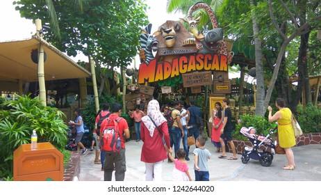 Universal Studios/ Singapore- April 30, 2016: Tourists from various countries having fun at Universal Studios,  Sentosa Island