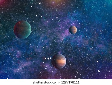 Universe concept background. Elements of this image furnished by NASA