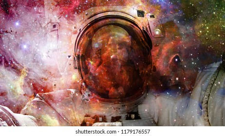 Universe filled with stars, nebula and galaxy. Elements of this image furnished by NASA
