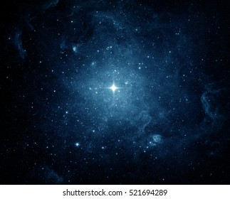 Universe filled with stars, nebula and galaxy. Elements of this image furnished by NASA. - Shutterstock ID 521694289
