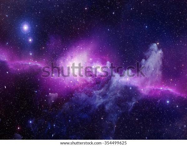 Universo lleno de estrellas, nebulosa y galaxia