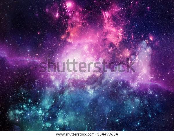 Вселенная наполнена звездами, туманностью и галактикой