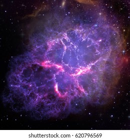 Universe filled with stars, planets and galaxy. Elements of this image furnished by NASA