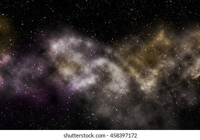 Universe milky way space galaxy with stars and nebula.