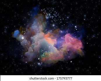 Universe Is Not Enough series. Interplay of fractal elements, lights and textures on the subject of fantasy, science, religion and design