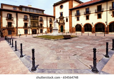 University building of Psychology Faculty in historic center of Oviedo, Asturias, Spain.