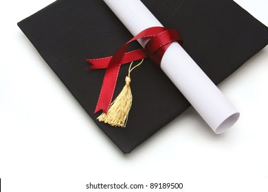 Graduation Cap And Diploma Images Stock Photos Vectors