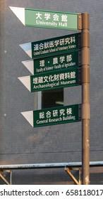 University Direction Sign.