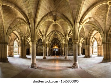 University of Glasgow Cloisters, Scotland in a beautiful summer day, United Kingdom