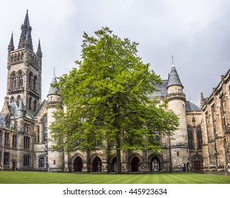 University of Glasgow inner courtyard, Scotland. This was one of the locations were Harry Potter was filmed.