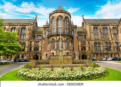 University of Glasgow, Scotland in a beautiful summer day, United Kingdom