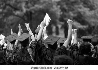 University graduation ceremonies on Commencement Day