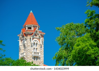 University of Kansas in Lawrence, Kansas on a Sunny Day