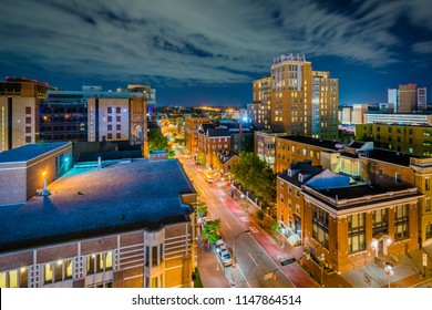 University of Maryland Baltimore night view in downtown Baltimore, Maryland