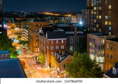 University of Maryland, Baltimore night view in downtown Baltimore, Maryland