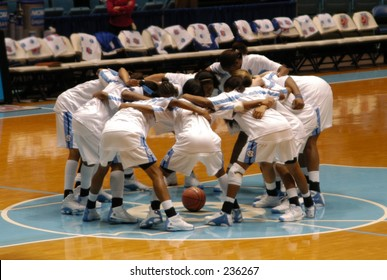 University of North Carolina women's basketball team pre-game warmup