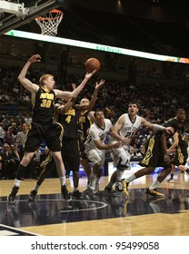 UNIVERSITY PARK, PA - FEB 16: Iowa's Aaron White clears a rebound during a game against Penn State at the Byrce Jordan Center February 16, 2012 in University Park, PA
