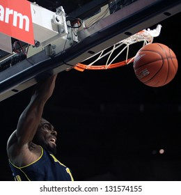 UNIVERSITY PARK, PA - FEBRUARY 27: Michigan's Tim Hardaway Jr. slams the basketball  against Penn State  at the Byrce Jordan Center February 27, 2013 in University Park, PA