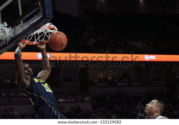 UNIVERSITY PARK, PA - FEBRUARY 27: Michigan's Tim Hardaway Jr. dunks against Penn State at the Byrce Jordan Center February 27, 2013 in University Park, PA