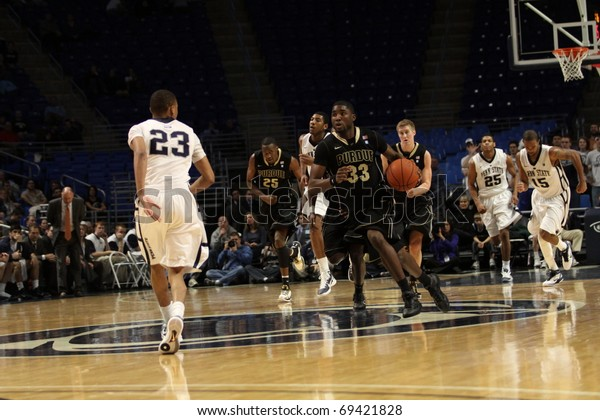 UNIVERSITY PARK, PA - JANUARY 5: Purdue's No. 33 E'Twaun Moore leads the fast break in a game against Penn State at the Byrce Jordan Center on January 5, 2011 in University Park, PA