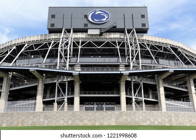 UNIVERSITY PARK, PA, USA - JUNE 21: The outside of Beaver Stadium in University Park, Pennsylvania on June 21, 2018. Beaver Stadium is the home stadium of the Penn State University Nittany Lions NCAA
