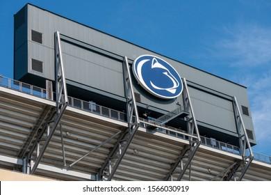 UNIVERSITY PARK, PA/USA - SEPTEMBER 28, 2019: Beaver Stadium, home of the Nittany Lions at Penn State University.
