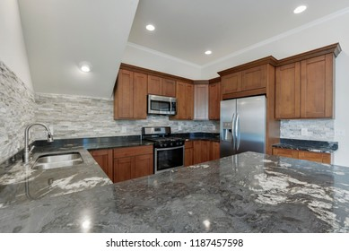 University Place, WA / USA - Sept. 21, 2018: Modern kitchen interior