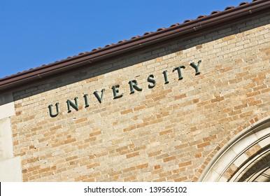 University sign on a building