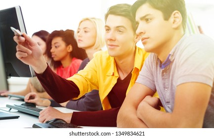 University students learning