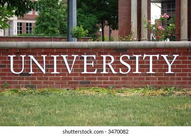university word on wall