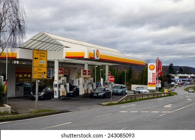 UNKEL, GERMANY 10 JANUARY 2015 -  As of 2014 Shell is the fourth largest company in the world in terms of revenue and one of the six oil and gas supermajors.