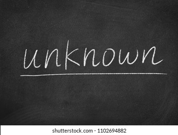 unknown concept word on a blackboard background