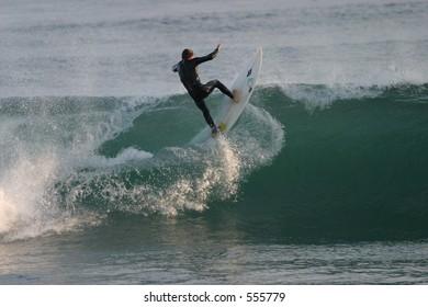 Unknown Malibu Surfer