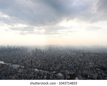 Unlimited cityscape in Tokyo.