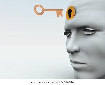 Unlocking someones mind.