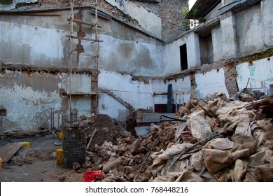 unmaintained decaying historical city stone town in zanzibar in Tanzania