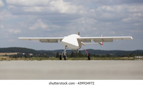 Unmanned aerial vehicle (UAV) on the ground.