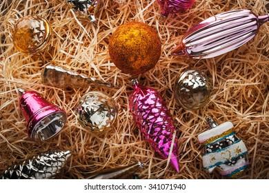 Unpacking Christmas tree decorations