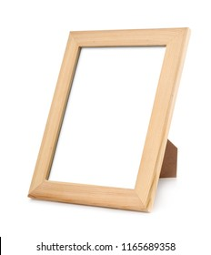 Unpainted wood pictures frame isolated on white