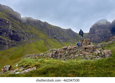 Unplugged, Man admiring the beauty of scottish nature