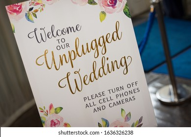 Unplugged Wedding No Photos Please sign. Wedding Photographer Media Announcement Request
