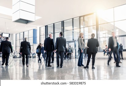 unrecognizable business people at a airport hall