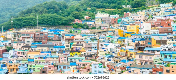 Unseen of  Busan city Gamcheon Culture Village in Busan, South Korea