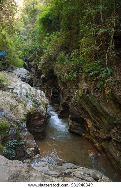 Unseen Place called, Wang Si La Laeng, Grand Canyon in Pua Provincen Nan, Thailand