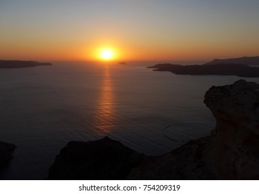 Unset from Fira, Santorini
