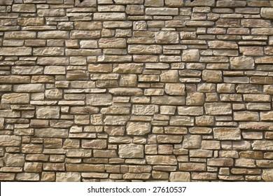 Unshaped stone wall pattern,wall made of rocks