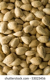 Un-shelled almonds filling the frame