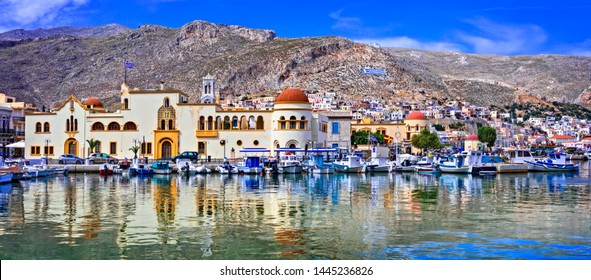 Unspoiled Greek islands - scenic Kalymnos with authentic beauty. Dodekanese, Greece