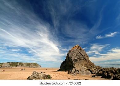 unspoilt beach landscape